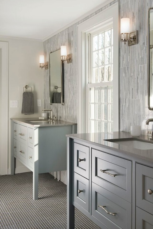 Gray Bathroom Contemporary Bathroom Benjamin Moore Whythe Blue