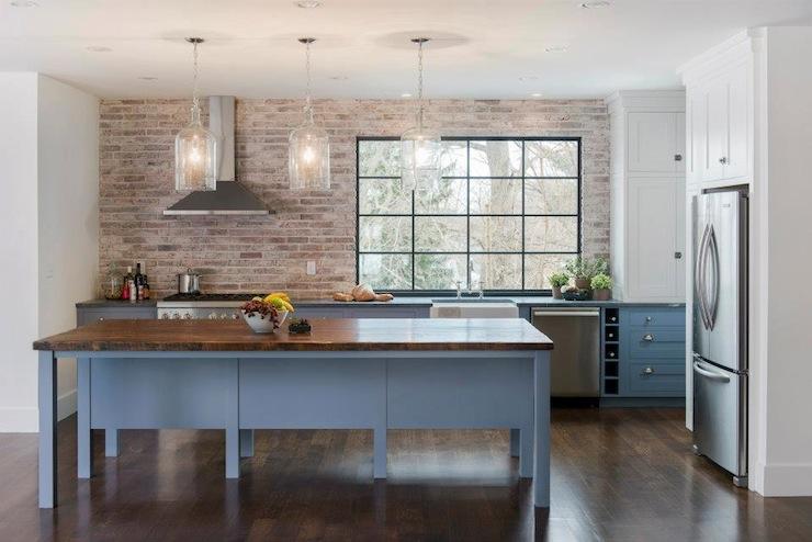 Brick Kitchen Backsplash Contemporary Kitchen Pinney