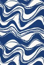 Fabrics - Trina Turk Carmel Coastline Print Surf Fabric I LynnChalk.com - navy and white fabric, navy and white wavy fabric, navy blue and white fabric,