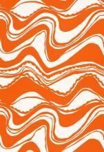 Trina Turk Carmel Coastline Print Tangerine Fabric I LynnChalk.com