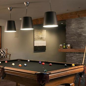 Basement Pool Room, Contemporary, basement, Pinney Designs
