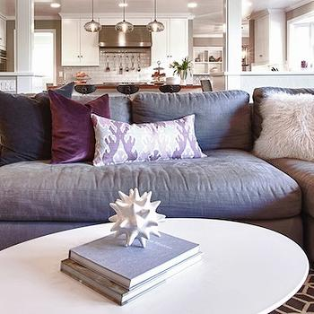 Purple Sofa, Contemporary, living room, Kriste Michelini Interiors