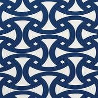 Fabrics - Trina Turk Santorini Print Marine Fabric I LynnChalk.com - navy blue and white fabric, navy and white fabric, navy and white geometric fabric,