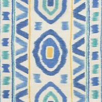 Fabrics - Thom Filicia PROSPECT Lake Fabric I LynnChalk.com - blue yellow and turquoise fabric, blue yellow and turquoise tribal fabric,
