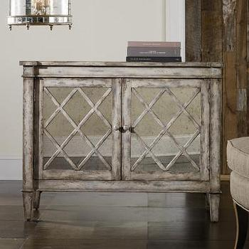 Storage Furniture - Hooker Furniture Melange Villa Blanca Chest | Wayfair - distressed mirror fronted chest, distressed gray mirror fronted chest, lattice mirror fronted distressed chest,