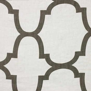 Fabrics - Windsor Smith RIAD Clove Brown Fabric I LynnChalk.com - brown and white geometric fabric, brown on white geometric fabric, brown on white moroccan tile fabric,