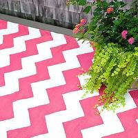 Rugs - Chevron Fuchsia/White Indoor/Outdoor | Dash & Albert Rug Company - pink and white chevron rug, fuchsia and white chevron rug, fuchsia pink and white indoor outdoor chevron rug,