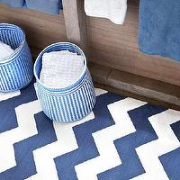Rugs - Chevron Denim/White Indoor/Outdoor | Dash & Albert Rug Company - blue and white chevron rug, denim blue and white chevron rug, blue and white chevron indoor outdoor rug,
