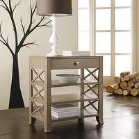 Storage Furniture - Hooker Furniture Melange Tiered End Table | Wayfair - x-sided 3-tiered end table, greige tiered end table, single drawer x-sided end table,
