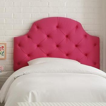 Beds/Headboards - Skyline Furniture Tufted Upholstered Headboard | Wayfair - hot pink tufted headboard, hot pink diamond tufted headboard, hot pink upholstered headboard,