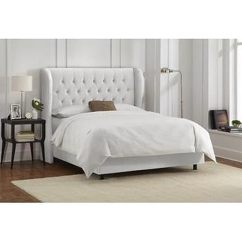 Beds/Headboards - Skyline Furniture Wingback Bed | Wayfair - white wingback headboard, white velvet tufted headboard, white velvet tufted wingback headboard,