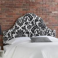 Beds/Headboards - Skyline Furniture Fiorenza Upholstered Nail Button Headboard | Wayfair - black and white arched headboard, black and white damask headboard with nailhead trim, black and white arched headboard with nailhead trim,