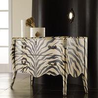 Storage Furniture - Hooker Furniture Melange Zora 2 Drawer Bombe Chest | Wayfair - zebra print chest, zebra print bombe chest, zebra print two-drawer bombe chest,
