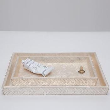 Gump 39 s san francisco capiz shell bath accessories - Capiz shell bathroom accessories ...