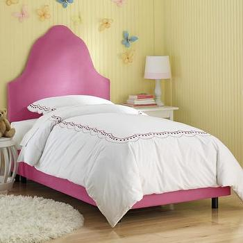 Beds/Headboards - Skyline Furniture High Arc Micro-Suede Upholstered Bed | Wayfair - pink arched bed, pink upholstered arched headboard and frame, pink upholstered headboard and frame,