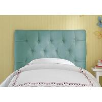 Beds/Headboards - Skyline Furniture Tufted Micro-Suede Upholstered Headboard | Wayfair - turquoise button tufted headboard, turquoise tufted headboard, turquoise micro-suede button tufted headboard,