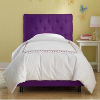 Beds/Headboards - Skyline Furniture Tufted Micro-Suede Youth Bed in Purple | Wayfair - purple tufted bed, purple tufted headboard and bed frame, purple tufted micro-suede bed,