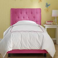 Beds/Headboards - Skyline Furniture Tufted Micro-Suede Youth Bed in Hot Pink | Wayfair - hot pink tufted bed, hot pink upholstered tufted bed, hot pink micro-suede tufted bed,
