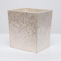 Decor/Accessories - Handa Waste Basket I Pigeon & Poodle - capiz shell waste basket, capiz waste basket, herringbone pattern capiz shell waste basket,