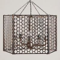 Lighting - Honeycomb Chandelier | World Market - honeycomb metal chandelier, die-cut metal chandelier, honeycomb die-cut metal chandelier,