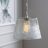 Lighting - Mosaic Glass Pendant | west elm - mosaic glass pendant, clear mosaic glass pendant, mosaic glass pendant fixture,