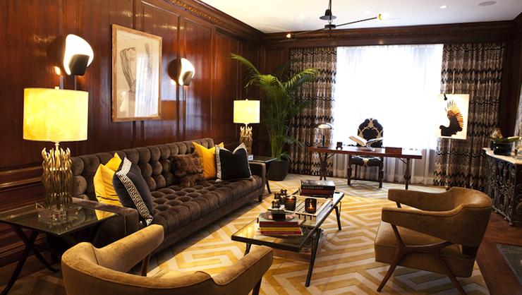 Gray Velvet Tufted Sofa Eclectic Living Room Nanjoo