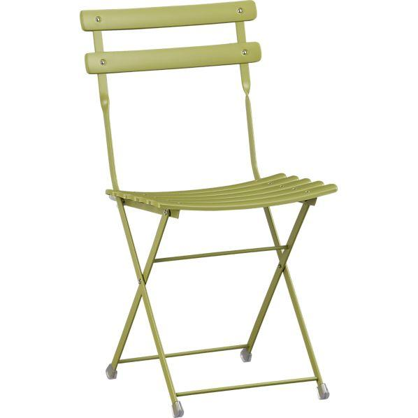 Pronto Green Folding Bistro Chair
