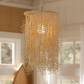 Lighting - Coconut Fall Chandelier | PBteen - coconut chandelier, coconut bead chandelier, loop bead chandelier,