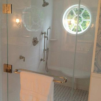 Walk In Shower Design, Transitional, bathroom, TRI Traci Rhoads Interiors