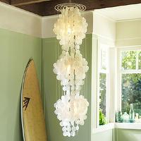 Lighting - Capiz 3-Tier Chandelier | PBteen - capiz chandelier, tiered capiz chandelier, capiz shell chandelier,