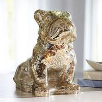 Decor/Accessories - Mercury Glass Bulldog Lamp | PBteen - mercury glass bulldog lamp, mercury bulldog lamp, mercury glass dog lamp,