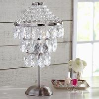 Lighting - Sparkle Drop Table Lamp | PBteen - acrylic beaded lamp, tiered acrylic beaded lamp,