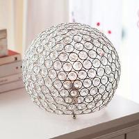 Lighting - Shimmer Table Lamp | PBteen - round crystal beaded lamp, globe shaped crystal lamp, globe shaped crystal table lamp,