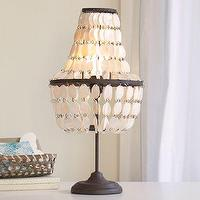 Lighting - Shell Swag Table Lamp | PBteen - shell table lamp, beaded shell table lamp, tiered shell table lamp,