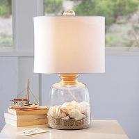 Lighting - Bottle-It Bedside Lamp + Shade | PBteen - glass table lamp, glass bedside lamp, glass bottle lamp,