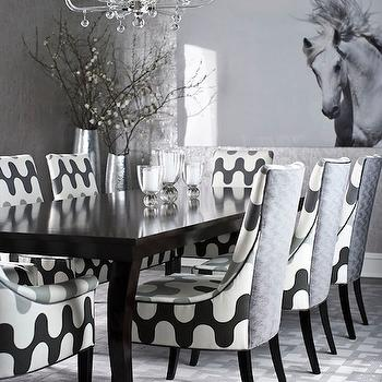 Gray Dining Room, Contemporary, dining room, Muse Interiors