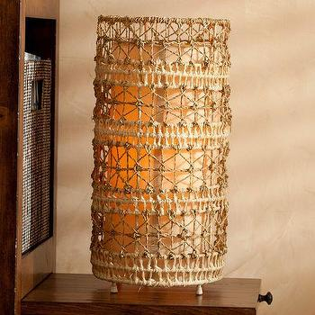 Lighting - Sea Grass Table Lamp | PBteen - woven table lamp, seagrass table lamp, macrame table lamp,