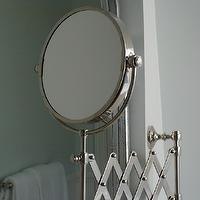 Hazardous Design - bathrooms - extension mirror, restoration hardware extension mirror, silver leaf mirror, Restoration Hardware Lugarno Extension Mirror,