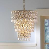 Lighting - Teardrop Chandelier | PBteen - teardrop chandelier, tiered crystal chandelier, tiered acrylic beaded chandelier,