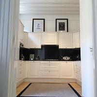 kitchens - white kitchen, white kitchen cabinets, white kitchen cabinetry, marquina marble,  Fabulous white kitchen with Marquina Marble