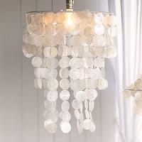 Lighting - Capiz Chandelier | PBteen - capiz chandelier, capiz shell chandelier,