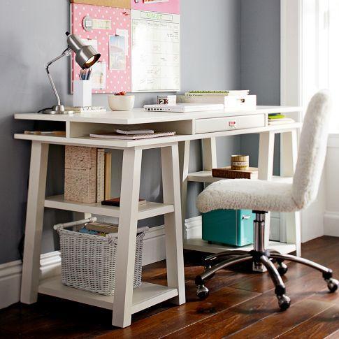 Customize It Storage Trestle Desk Pbteen