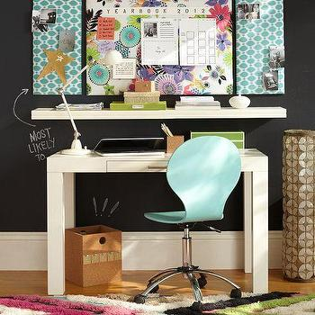 Storage Furniture - Parsons Desk | PBteen - white parsons desk, parsons desk, small white parsons desk,