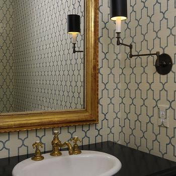 Moorish Tile Wallpaper, Transitional, bathroom, The Banks Development Company