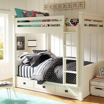 Beds/Headboards - Oxford Bunkbed | PBteen - storage bunk beds, white bunk beds, white bunk beds with storage drawers,
