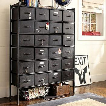 Storage Furniture - Rockwell Metal Chest of Drawers | PBteen - industrial metal chest of drawers, industrial chest of drawers, vintage style chest of drawers,