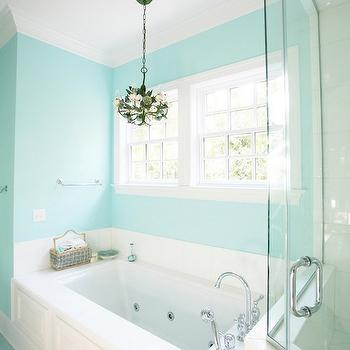 Tiffany Blue Paint Colors, Contemporary, bathroom, Sherwin Williams Spa, Echelon Custom Homes