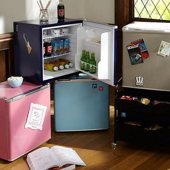 Decor/Accessories - Supercool Fridge | PBteen - pink mini fridge, navy mini fridge, blue mini fridge, black mini fridge,