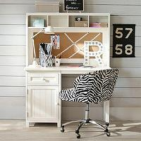 Tables - Beadboard Space-Saving Desk + Hutch | PBteen - beadboard desk, beadboard desk and hutch, beadboard desk with hutch,
