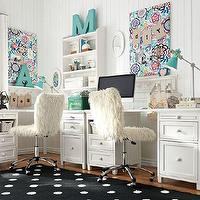 Storage Furniture - Beadboard Basic Desk + Hutch | PBteen - beadboard desk, white desk, white beadboard desk,